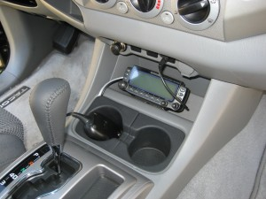 Control Head Mounted in Console